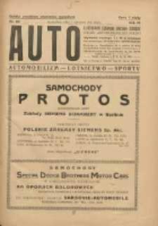 Auto: ilustrowane czasopismo sportowo-techniczne: organ Automobilklubu Polski: automobilizm, lotnictwo, sporty 1924.12.01 R.3 Nr23
