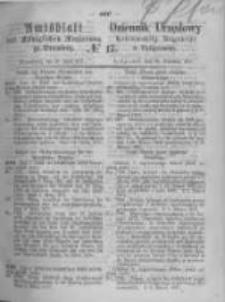 Amtsblatt der Königlichen Preussischen Regierung zu Bromberg. 1871.04.28 No.17