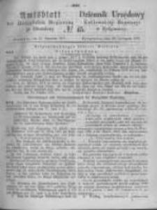 Amtsblatt der Königlichen Preussischen Regierung zu Bromberg. 1871.11.10 No.45
