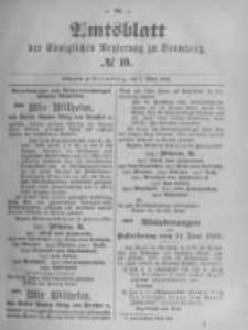 Amtsblatt der Königlichen Preussischen Regierung zu Bromberg. 1895.03.07 No.10