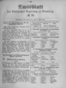Amtsblatt der Königlichen Preussischen Regierung zu Bromberg. 1895.04.11 No.15