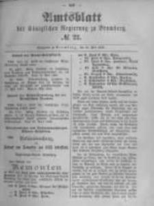 Amtsblatt der Königlichen Preussischen Regierung zu Bromberg. 1895.05.30 No.22