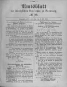 Amtsblatt der Königlichen Preussischen Regierung zu Bromberg. 1895.07.18 No.29