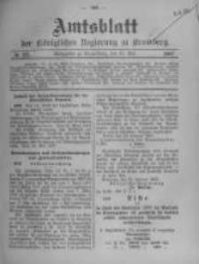 Amtsblatt der Königlichen Preussischen Regierung zu Bromberg. 1907.05.30 No.22