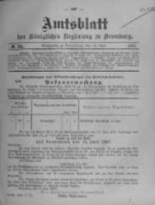 Amtsblatt der Königlichen Preussischen Regierung zu Bromberg. 1907.06.13 No.24