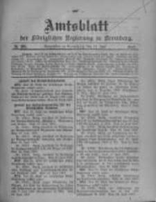 Amtsblatt der Königlichen Preussischen Regierung zu Bromberg. 1907.07.11 No.28