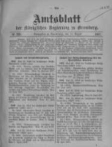 Amtsblatt der Königlichen Preussischen Regierung zu Bromberg. 1907.08.15 No.33