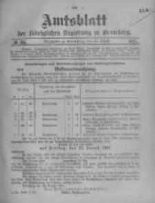 Amtsblatt der Königlichen Preussischen Regierung zu Bromberg. 1907.08.22 No.34