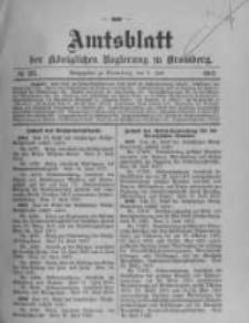 Amtsblatt der Königlichen Preussischen Regierung zu Bromberg. 1912.07.04 No.27