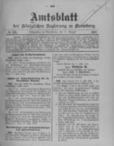 Amtsblatt der Königlichen Preussischen Regierung zu Bromberg. 1912.08.15 No.33