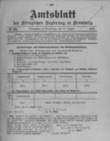 Amtsblatt der Königlichen Preussischen Regierung zu Bromberg. 1912.08.22 No.34