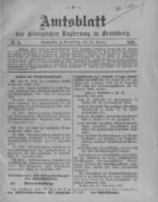 Amtsblatt der Königlichen Preussischen Regierung zu Bromberg. 1910.01.13 No.2