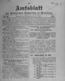 Amtsblatt der Königlichen Preussischen Regierung zu Bromberg. 1910.04.14 No.15