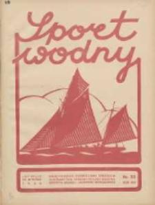 Sport Wodny: dwutygodnik poświęcony sprawom wioślarstwa, żeglarstwa, pływactwa, turystyki wodnej i jachtingu motorowego 1938.11 R.14 Nr20