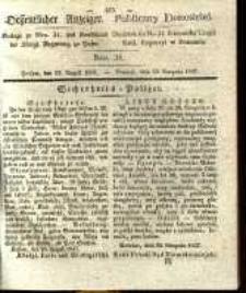 Oeffentlicher Anzeiger. 1837.08.22 Nro.34