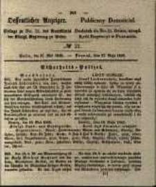 Oeffentlicher Anzeiger. 1845.05.27 Nro.21