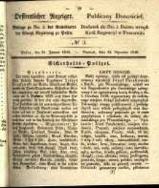 Oeffentlicher Anzeiger. 1840.01.21 Nro.3