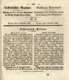 Oeffentlicher Anzeiger. 1840.12.08 Nro.49