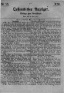 Oeffentlicher Anzeiger. Beilage zum Amtsblatt. Nr.25. 1885