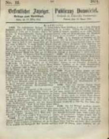 Oeffentlicher Anzeiger. 1874.03.19 Nr 12