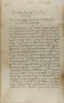 List Jana Firleja do króla Zygmunta III, Lublin 24.06.1601