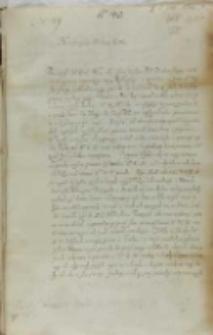 List Macieja Pstrokocińskiego biskupa przemyskiego do króla Zygmunta III, Brzozowo 06.02.1602