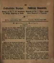 Oeffentlicher Anzeiger. 1853.02.15 Nro.7