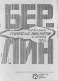 Powstanie Berlińskie – 17 czerwca 1953. Likwidacja ruchu samorządowego i etatyzacja przemysłu