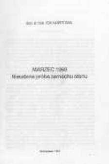 Marzec 1968. Nieudana próba zamachu stanu