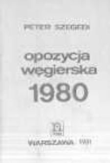 Opozycja węgierska 1980
