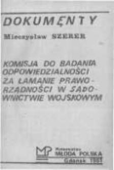 Komisja do Badania Odpowiedzialności za Łamanie Praworządności w Sądownictwie Wojskowym