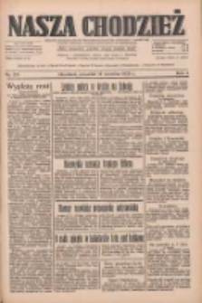 Nasza Chodzież: dziennik poświęcony obronie interesów narodowych na zachodnich ziemiach Polski 1933.09.14 R.4 Nr211