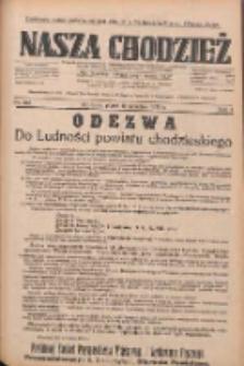 Nasza Chodzież: dziennik poświęcony obronie interesów narodowych na zachodnich ziemiach Polski 1933.09.15 R.4 Nr212