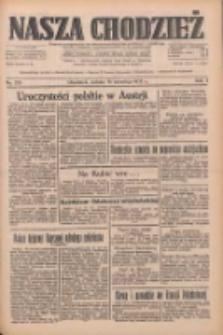 Nasza Chodzież: dziennik poświęcony obronie interesów narodowych na zachodnich ziemiach Polski 1933.09.16 R.4 Nr213