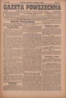Gazeta Powszechna: organ Zjednoczenia Producentów Rolnych 1923.08.09 R.4 Nr179
