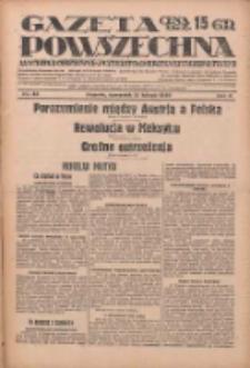Gazeta Powszechna: wychodzi codziennie z czterema dodatkami tygodniowemi 1929.02.21 R.10 Nr43