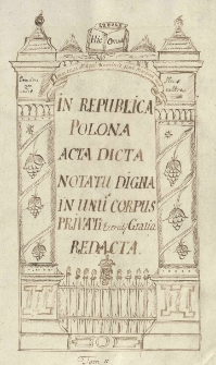 In Republica Polona acta, dicta, notatu digna in unum corpus privati exercitij gratia redacta 1605-1656, T.2