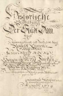 Historische Beschreibung der Stadt Danzig i materiały źródłowe do dziejów Gdańska
