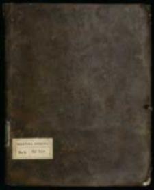 Manuskrypt przezemnie [...] spisany 1769