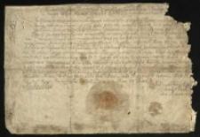 Dyplom króla Michała Wiśniowieckiego, nadający na prośbę Karola Andrzeja Grudzińskiego, woj. poznańskiego trzy jarmarki doroczne w jego miasteczku dziedzicznym Kórniku