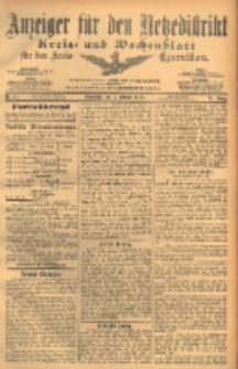 Anzeiger für den Netzedistrikt Kreis- und Wochenblatt für den Kreis Czarnikau 1903.02.07 Jg.51 Nr17
