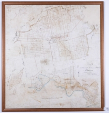 Karte von der zur Herrschaft Kurnik [!] gehörigen Feldmark Radzewo Srimmer Kreises vermessen im Jahr 1826/27 copirt im Jahr 1829 durch Ziehlke.