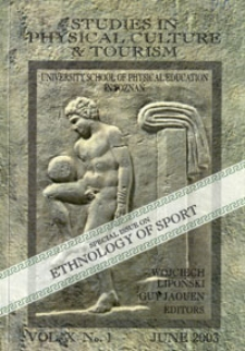 Studies in Physical Culture and Tourism 2003 Vol.10 No.1