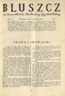 Bluszcz. Społeczno literacki ilustrowany tygodnik kobiecy 1927.05.21 R.60 nr21