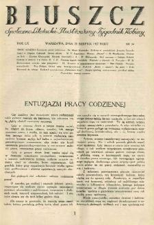 Bluszcz. Społeczno literacki ilustrowany tygodnik kobiecy 1927.08.20 R.60 nr34