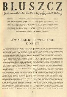 Bluszcz. Społeczno literacki ilustrowany tygodnik kobiecy 1928.08.04 R.61 nr32