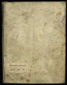 Rozprawy o retoryce, materiały historyczne dotyczące elekcji po śmierci króla Michała Korybuta Wiśniowieckiego, diariusze sejmów etc.