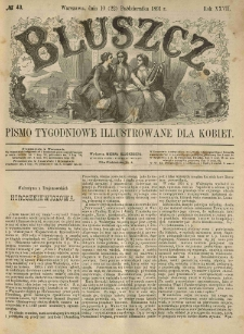 Bluszcz. Pismo tygodniowe illustrowane dla kobiet. 1891.10.10 (22) R.27 nr43