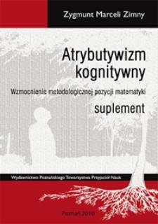 Atrybutywizm kognitywny - Suplement