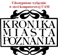 Kronika Miasta Poznania 2009 Nr3; Okupacja 2